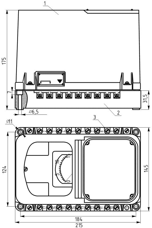 Общий вид реле скорости РС-67