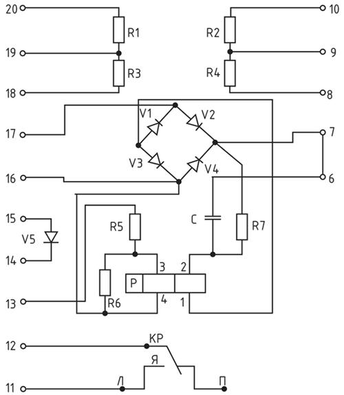 Принципиальная схема реле РИС-Э3М